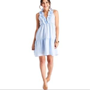 Vineyard Vines light blue ruffle tiered dress smal
